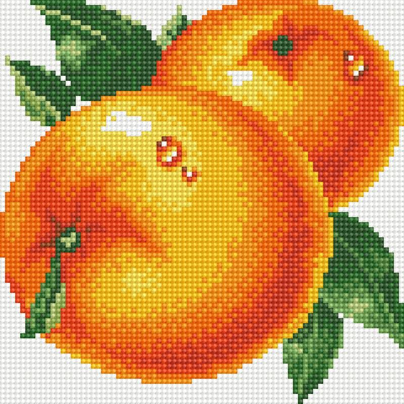 Набор для творчества Алмазная мозаика. Сочные апельсины, 20 х 20 см031-ST-R Сочные апельсиныНабор для творчества Алмазная мозаика. Сочные апельсины поможет вам создать свой личный шедевр - красивую картину, выполненную в мозаичной технике. Каждый камушек выполнен из прочного материала, огранен по типу драгоценных камней и при попадании на грани солнечного или искусственного света образуется мерцающее полотно. Мозаичные картины - это новый вид творчества, который поможет создать прекрасное украшение для вашего дома. В наборе имеется холст с нанесенной схемой. С помощью пинцета стразы размещаются на холст. В результате проявляется рисунок. Для создания картины нужно лишь выложить мозаику по схеме. Вы получите огромное наслаждение от творчества. В набор входит: - основа картины - холст на подрамнике, - комплект круглых искусственных камней, диаметр 2,5 мм, 15 цветов, - пинцет, - пластмассовый лоток для камней, - пластмассовый карандаш для камней, - жидкий клей.