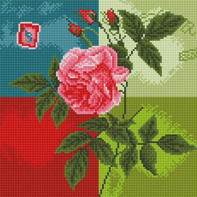 Набор для творчества Алмазная мозаика. Нежная роза, 30 см х 30 см288-ST-R Нежная розаНабор для творчества Алмазная мозаика. Нежная роза поможет вам создать свой личный шедевр - красивую картину, выполненную в мозаичной технике. Каждый камушек выполнен из прочного материала, огранен по типу драгоценных камней и при попадании на грани солнечного или искусственного света образуется мерцающее полотно. Мозаичные картины - это новый вид творчества, который поможет создать прекрасное украшение для вашего дома. В наборе имеется холст с нанесенной схемой. С помощью пинцета стразы размещаются на холст. В результате проявляется рисунок. Для создания картины нужно лишь выложить мозаику по схеме. Вы получите огромное наслаждение от творчества. В набор входит: - основа картины - холст на подрамнике, - комплект круглых искусственных камней, диаметр 2,5 мм, 16 цветов, - пинцет, - пластмассовый лоток для камней, - пластмассовый карандаш для камней, - жидкий клей.