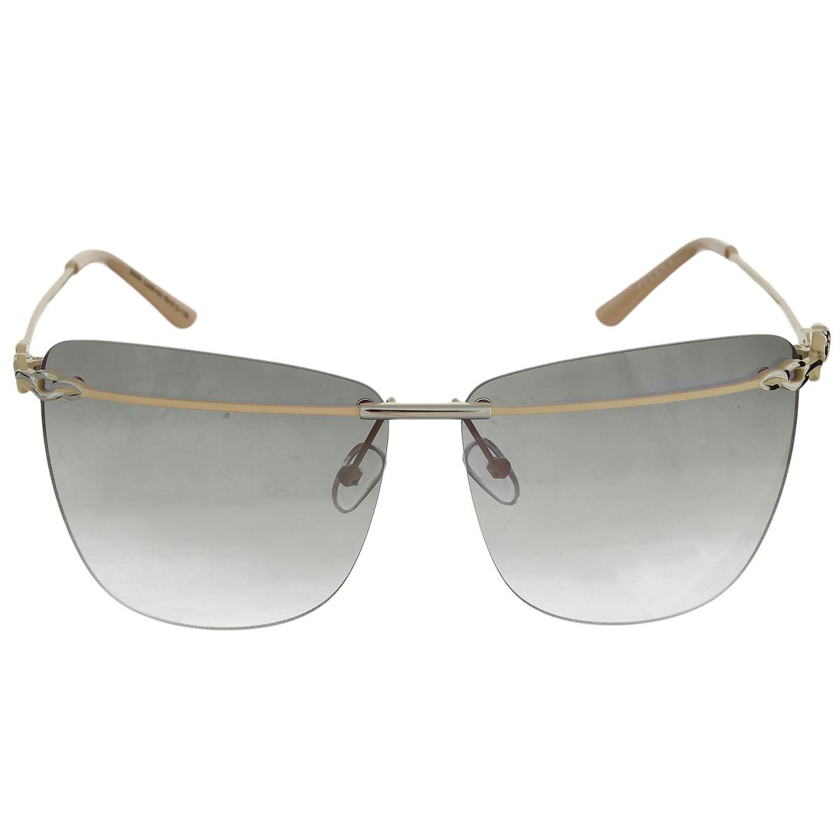 Солнцезащитные очки Selena, цвет: темно-коричневый, бежевый. 8003253180032531Солнцезащитные очки Selena, выполненные с линзами из высококачественного пластика PC с зеркальным эффектом fresh mirror, оправа оформлена изображением головы ягуара. Используемый пластик не искажает изображение, не подвержен нагреванию и вредному воздействию солнечных лучей. Линзы данных очков с высокоэффективным UV-фильтром обеспечивают полную защиту от ультрафиолетовых лучей. Металлическая оправа очков легкая, прилегающей формы и поэтому не создает никакого дискомфорта. Такие очки защитят глаза от ультрафиолетовых лучей, подчеркнут вашу индивидуальность и сделают ваш образ завершенным.