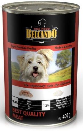 Консервы для собак Belcando, с отборным мясом, 400 г13152Консервы Belcando - это полнорационное влажное питание для собак. Подходят для собак всех возрастов. Комбинируется с любым типом корма, в том числе с натуральной пищей. Состав: мясо 98,8%, витамины и минералы 1,2%. Анализ состава: протеин 14 %, жир 5 %, клетчатка 0,2 %, зола 2,5 %, влажность 75,4 %, витамин А 2,500 МЕ/кг, витамин Е 40 мг/кг, витамин D3 250 МЕ/кг, кальций 0,4 %, фосфор 0,16 %. Вес: 400 г. Товар сертифицирован.