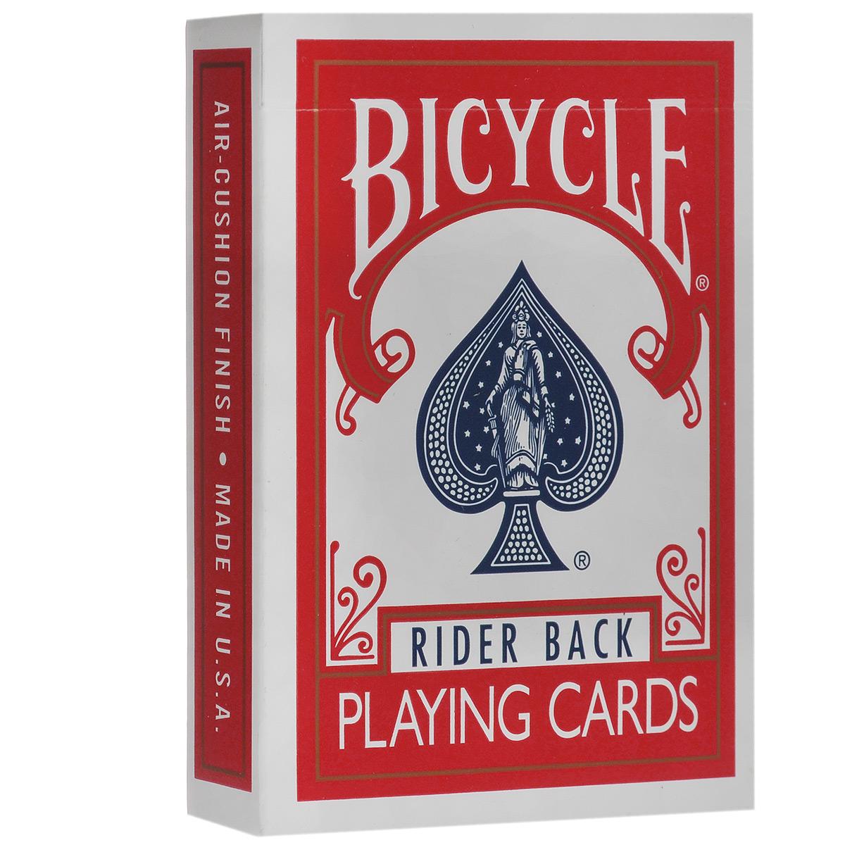 Карты для фокусов Bicycle с двойной рубашкой, цвет: красный, 56 штК-035Обращаем ваше внимание! Данный комплект карт поставляется без заводской целлофановой упаковки, что является особенностью всех карт для фокусов.