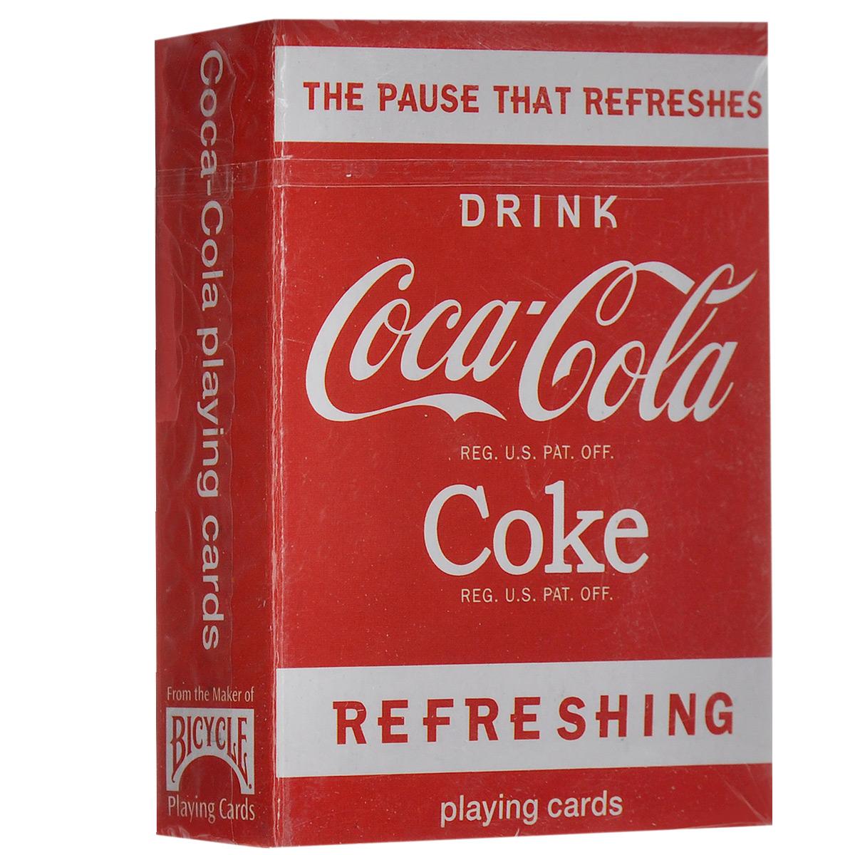 Мини-карты игральные Bicycle Coca-Cola, 54 штК-391