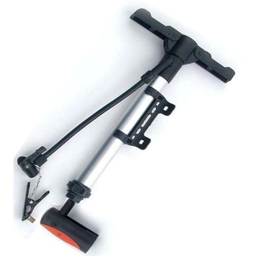 Насос велосипедный Larsen, диаметр 33 мм, длина 38 смH22-JC313Велосипедный ручной насос Larsen предназначен для накачивания велосипедных колес, мячей, других надувных товаров. Выполнен из высококачественного пластика и металла. Надувает при движении вверх-вниз. Насос можно установить на раму при помощи креплений (входят в комплект). Насос оснащен складной ручкой и складными платформами для ног. Комплектация: два ниппеля на вело/авто, крепление на раму, шланг, игла для мячей. Диаметр насоса: 33 мм. Длина насоса: 38 см.