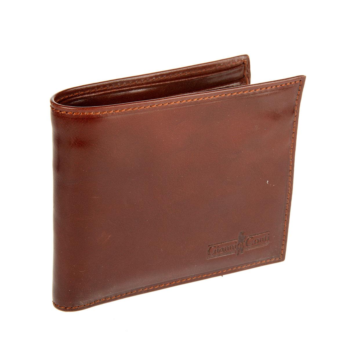 Портмоне мужское Gianni Conti, цвет: коричневый. 907057907057 brownСтильное мужское портмоне Gianni Conti выполнено из гладкой натуральной кожи. Лицевая сторона дополнена тиснением с названием бренда. Портмоне не имеет застежки. Внутри расположено 3 отделения для купюр, одно из них закрывается на молнию, отделение для монет на застежке-кнопке, кармашек для sim-карты, 5 боковых карманов, сетчатое отделение для фото и 7 кармашков для кредитных карт и визиток. Gianni Conti сделает ваш образ ярким и выразительным. При изготовлении аксессуаров используются самые современные технологии и дизайнерские новинки, которые удовлетворят самый изысканный вкус.