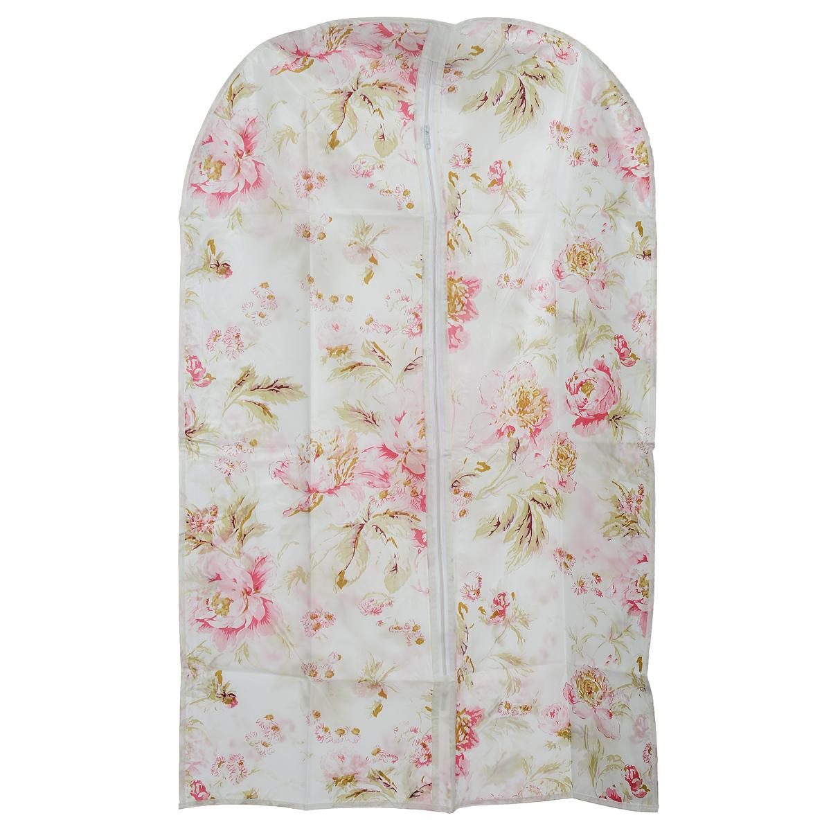 Чехол для одежды Eva Цветы, 60 х 92 смЕ-16201 цветыЧехол для одежды Eva Цветы выполнен из материала PEVA. Чехол обеспечивает вашей одежде надежную защиту от влажности, повреждений и грязи при транспортировке, от запыления при хранении. Изделие обладает водоотталкивающими свойствами, а также позволяет воздуху свободно поступать внутрь вещей, обеспечивая их кондиционирование. Закрывается на молнию. Можно стирать при температуре до 40°C.