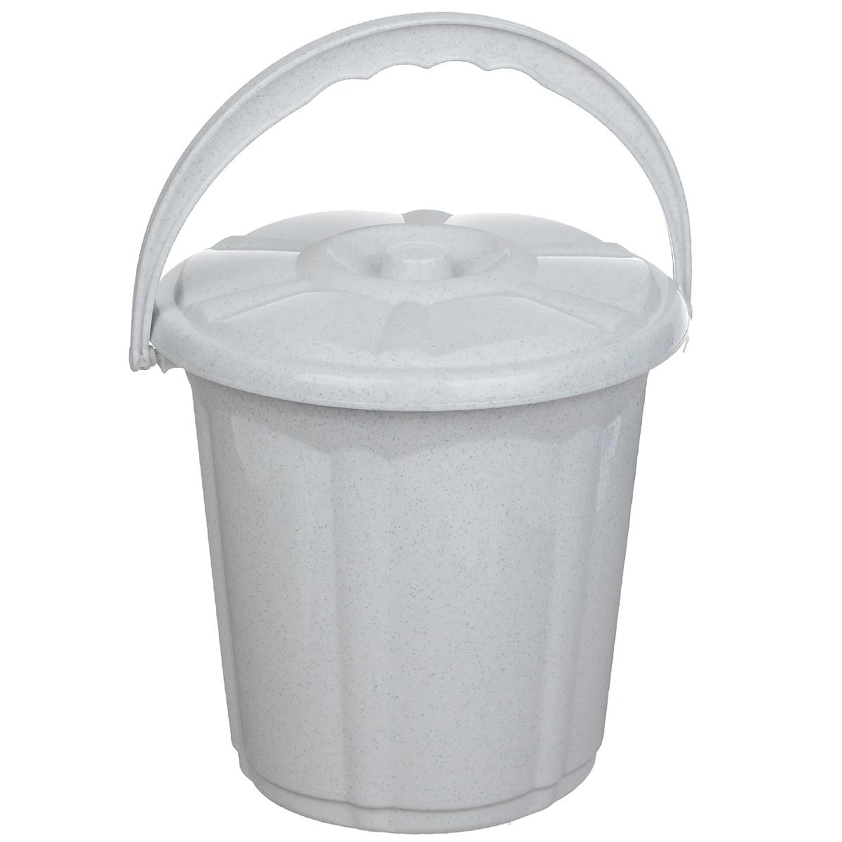 Ведро Dunya Plastik Стиль, с крышкой, цвет: белый, 5 л9101 белыйВедро Dunya Plastik Стиль изготовлено из прочного пластика. Ведро оснащено плотно закрывающейся крышкой и удобной ручкой. Такое ведро прекрасно подойдет для различных хозяйственных нужд: для уборки или хранения мусора. Диаметр ведра (по верхнему краю): 20,5 см. Высота (без учета крышки): 20 см.