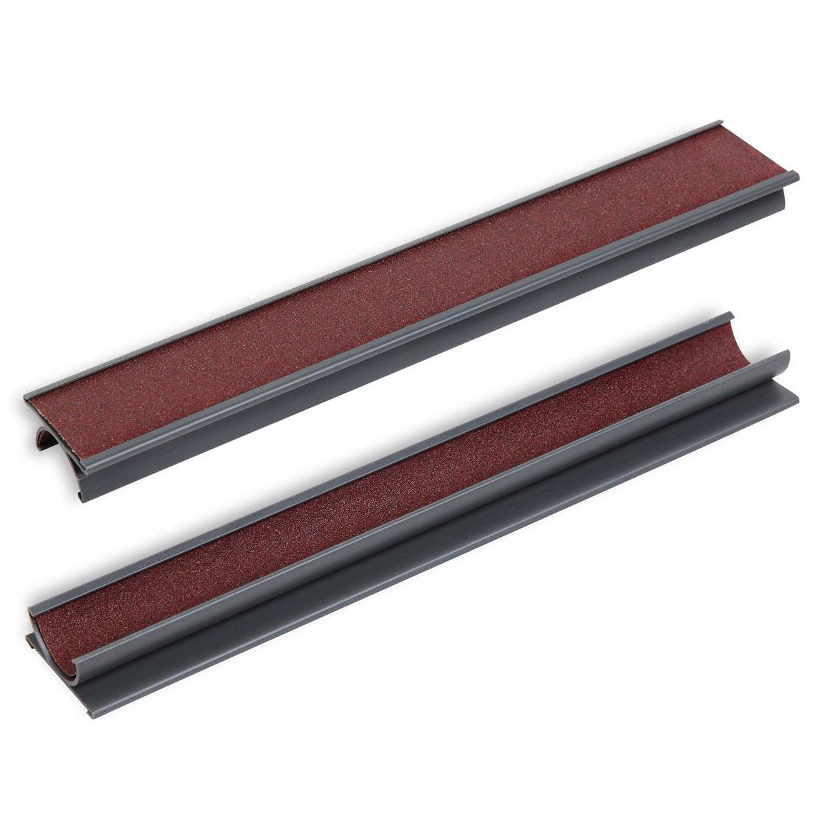 Триммер для обработки наклейки STD8198Триммер STD применяется как для формовки наклеек, так и для поддержания их в рабочем (шероховатом) состоянии. Выполнен из прочного пластика. Особенностью данного инструмента является то, что он двухсторонний.