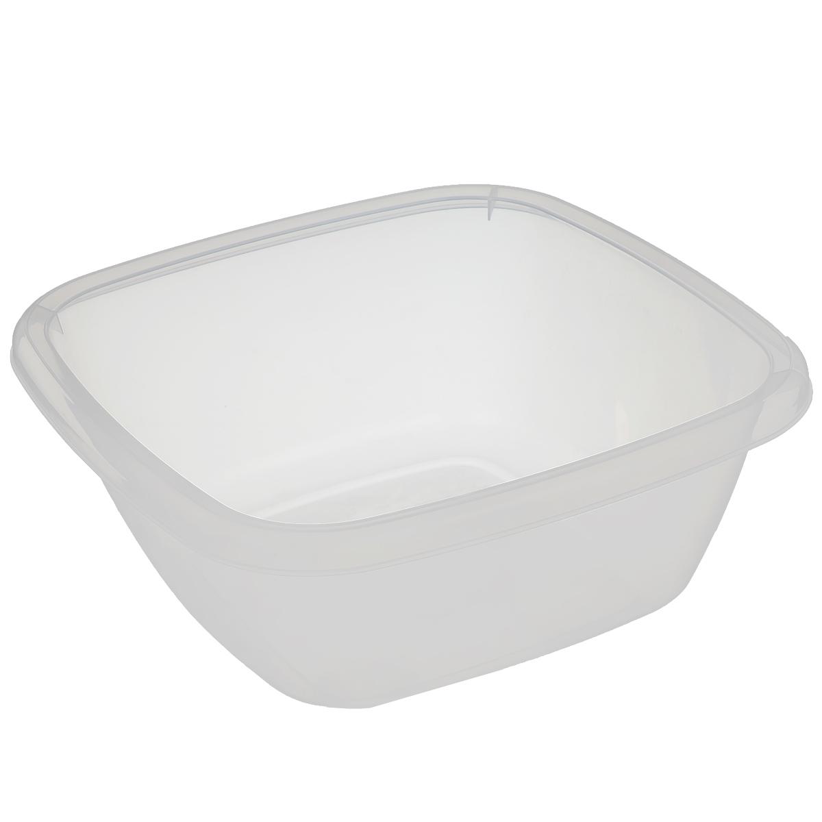 Таз Dunya Plastik, цвет: прозрачный, 6 л. 1012710127 белыйКвадратный таз Dunya Plastik выполнен из прочного прозрачного пластика. Он предназначен для стирки и хранения разных вещей. По краю имеются углубления, которые обеспечивают удобный захват. Такой таз пригодится в любом хозяйстве.