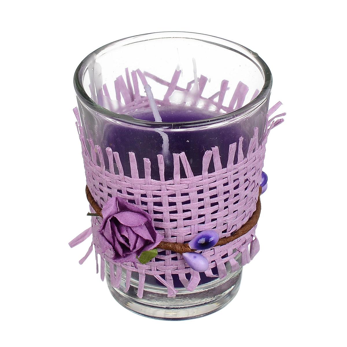 Свеча ароматизированная Sima-land Влечение. Лаванда, высота 6 см296121Ароматизированная свеча Sima-land Влечение. Лаванда изготовлена из воска и расположена в стеклянном стакане, украшенном декоративными бумажными цветами. Изделие отличается оригинальным дизайном и приятным ароматом лаванды. Такая свеча может стать отличным подарком или дополнить интерьер вашей комнаты.