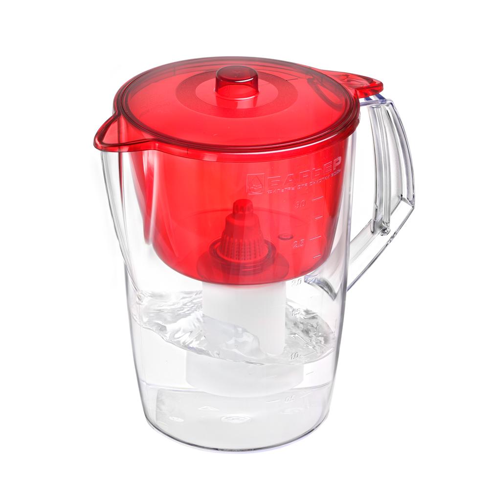 Фильтр-кувшин Барьер Лайт, цвет: красныйВ063Р00Недорогая модель фильтра-кувшина подойдет для семьи из трех человек. Отфильтрует за раз до 6 стаканов воды. Особенности фильтра: Уникальная конструкция воронки с защитой от попадания неочищенной воды и пыли Кувшин изготовлен из высококачественного пластика, допущенного для контакта с питьевой водой В стандартной комплектации поставляется в продажу со сменной кассетой Барьер Классик Материал: пластик. Объем кувшина: 3,6 л. Объем очищенной воды: 1,6 л. Объем воронки: 1,5 л. Размер кувшина (с учетом ручки): 24 см х 17 см. Высота кувшина: 25 см. Размер упаковки: 27 см х 19 см х 19 см.