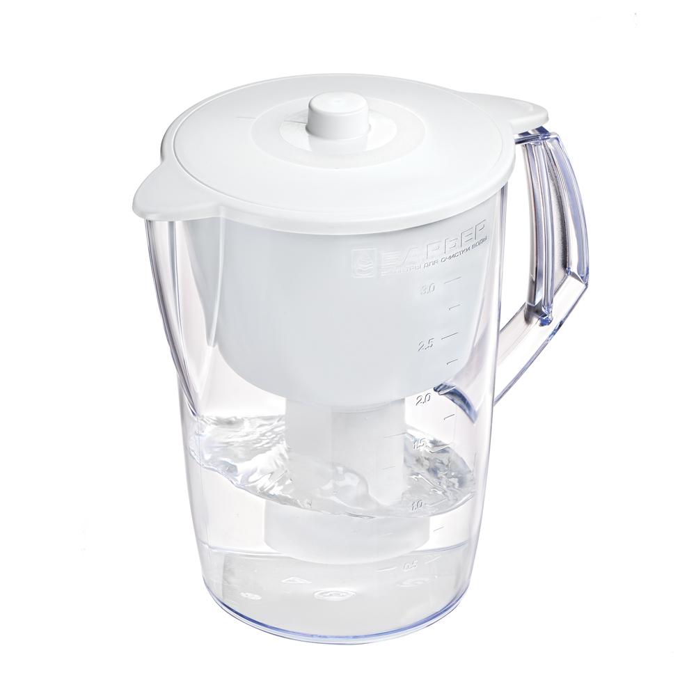 Фильтр-кувшин Барьер Лайт, цвет: белыйВ060Р00Недорогая модель фильтра-кувшина подойдет для семьи из трех человек. Отфильтрует за раз до 6 стаканов воды. Особенности фильтра: Уникальная конструкция воронки с защитой от попадания неочищенной воды и пыли Кувшин изготовлен из высококачественного пластика BASF, допущенного для контакта с питьевой водой В стандартной комплектации поставляется в продажу со сменной кассетой Барьер Классик Характеристики: Материал: пластик. Объем кувшина: 3 л. Объем воронки: 1,5 л. Цвет воронки: белый. Размер кувшина (с учетом ручки): 24 см х 17 см. Высота кувшина: 25 см. Размер упаковки: 27 см х 19 см х 19 см. Артикул: В060Р00.