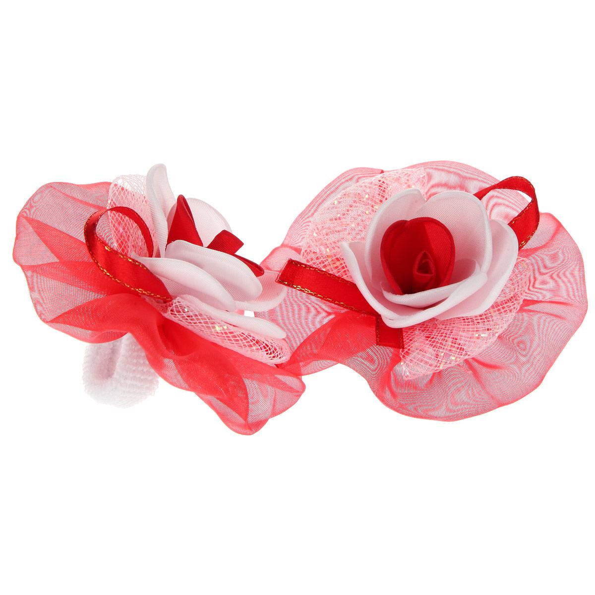 Набор резинок для волос Babys Joy, цвет: красный, белый, 2 шт. AL 970AL 970Набор резинок для волос Babys Joy содержит две резинки, которые выполнены в виде цветков из текстиля, атласной ленты, органзы и в центре оформлены розочками. Набор резинок для волос Babys Joy подчеркнет красоту прически вашей маленькой модницы.
