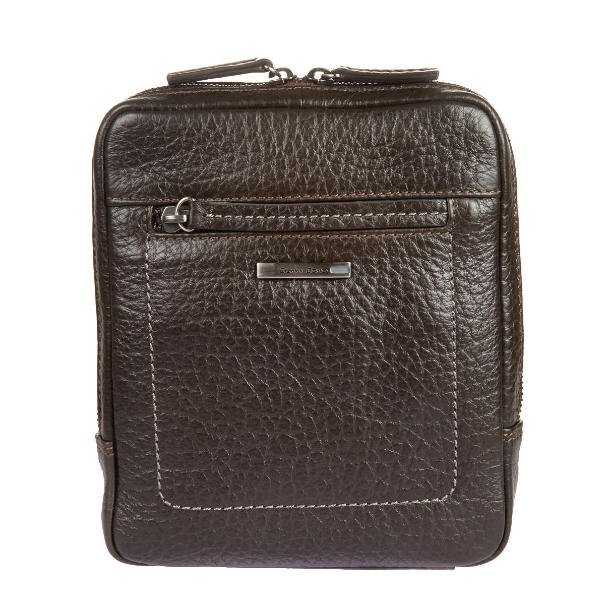 Сумка-планшет мужская Gianni Conti, цвет: темно-коричневый. 15423851542385 dark brownСтильная сумка-планшет Gianni Conti выполнена из высококачественной натуральной кожи с фактурным тиснением. Лицевая сторона украшена металлической пластиной с гравировкой бренда производителя. Планшет имеет одно основное отделение, которое закрывается на застежку-молнию. Внутри имеется накладной карман и прорезной карман на застежке-молнии. На внешней стороне - плоской карман и карман на застежке-молнии. Сумка оснащена регулируемым плечевым ремнем. К планшету прилагается чехол для хранения. Функциональность, вместительность, качество исполнения и непревзойденный стиль сумки- планшета Gianni Conti, несомненно, понравится любому мужчине.