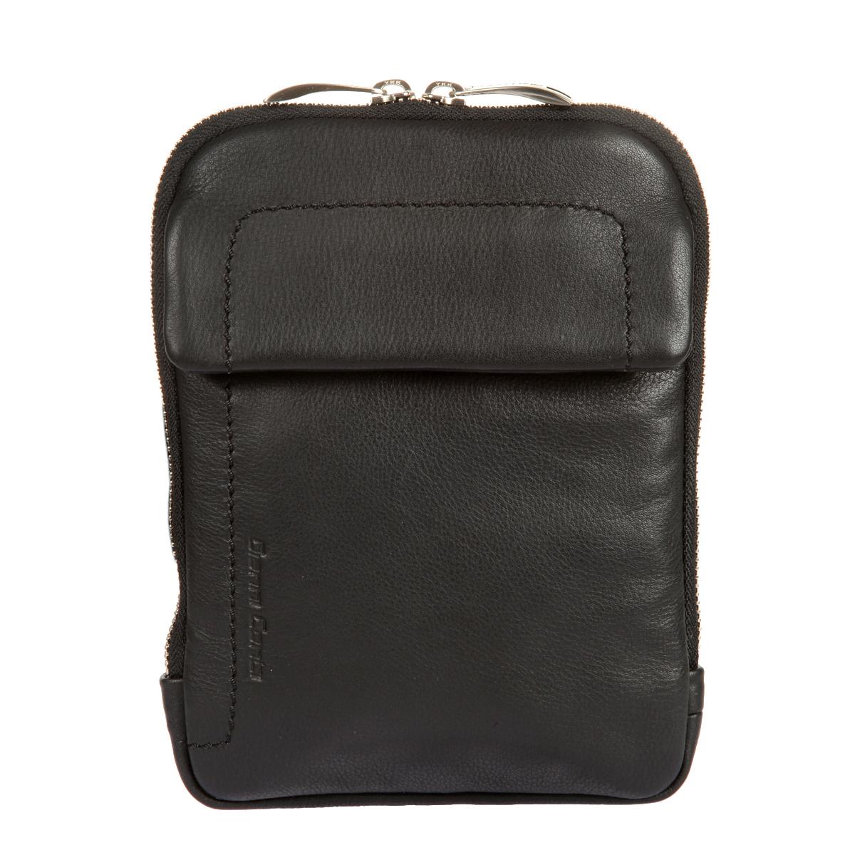 Сумка-планшет мужская Gianni Conti, цвет: черный. 16023301602330 blackСтильная сумка-планшет Gianni Conti выполнена из высококачественной натуральной кожи с фактурным тиснением. Лицевая сторона дополнена тиснением с названием бренда производителя. Планшет имеет одно основное отделение, которое закрывается на застежку-молнию с двумя бегунками. Внутри имеются три накладных кармана для документов и четыре держателя для авторучек и карандашей. На внешней стенке - карман, закрывающийся клапаном на магнитную кнопку. Сумка оснащена регулируемым плечевым ремнем. К планшету прилагается чехол для хранения. Функциональность, вместительность, качество исполнения и непревзойденный стиль сумки- планшета Gianni Conti, несомненно, понравится любому мужчине.