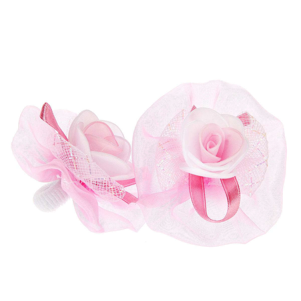 Набор резинок для волос Babys Joy, цвет: розовый, белый, 2 шт. AL 970AL 970Набор резинок для волос Babys Joy содержит две резинки, которые выполнены в виде цветков из текстиля, атласной ленты, органзы и в центре оформлены розочками. Набор резинок для волос Babys Joy подчеркнет красоту прически вашей маленькой модницы.