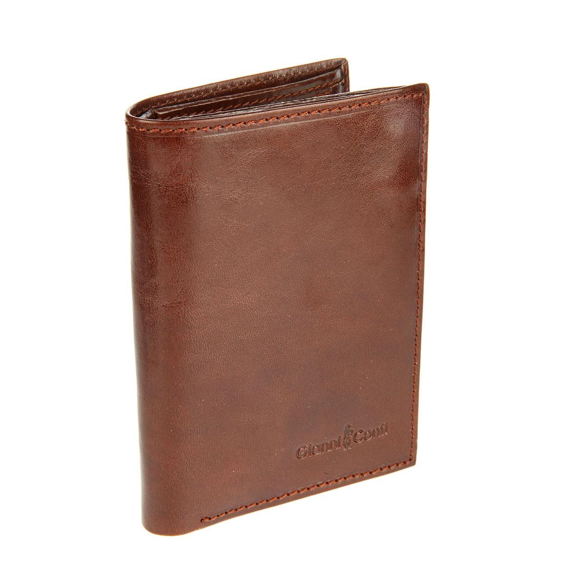 Портмоне мужское Gianni Conti, цвет: коричневый. 908037908037 brownСтильное мужское портмоне Gianni Conti выполнено из гладкой натуральной кожи. Лицевая сторона дополнена тиснением с названием бренда. Внутри расположено 2 отделения для купюр, отделение для монет на застежке-кнопке, потайной карман на молнии, 2 боковых кармана, 3 сетчатых для фото и 8 кармашков для кредитных карт и визиток. Отделения для фото и карточек фиксируются с помощью хлястика на замок-кнопку. Gianni Conti сделает ваш образ ярким и выразительным. При изготовлении аксессуаров используются самые современные технологии и дизайнерские новинки, которые удовлетворят самый изысканный вкус.