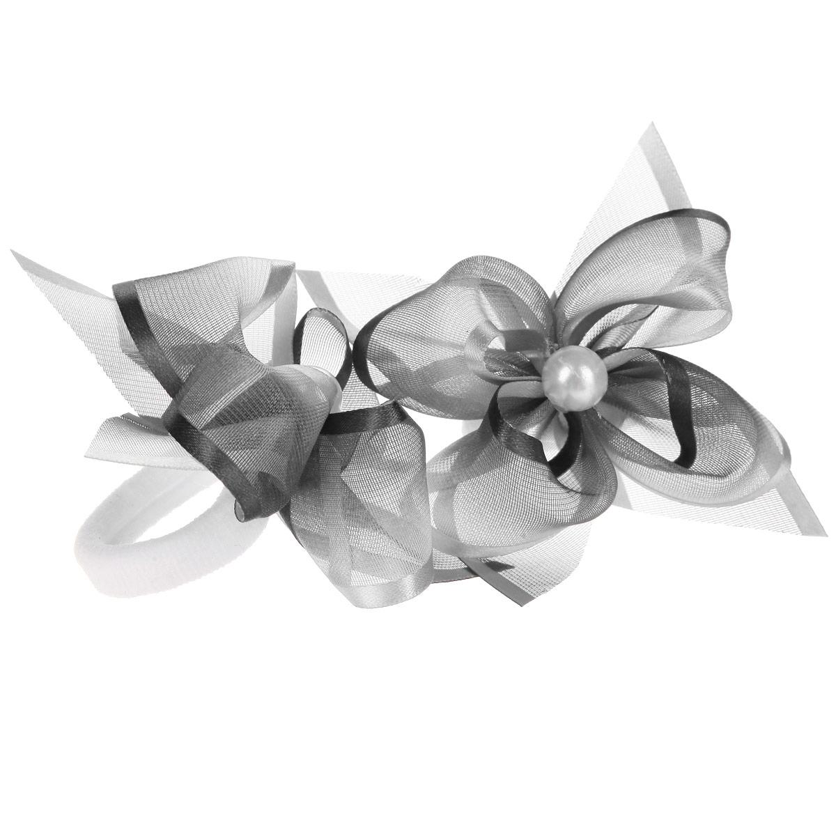 Набор резинок для волос 'Baby's Joy', цвет: серый, белый, 2 шт. MN 203/2