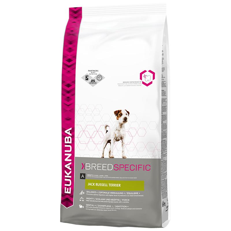 Корм сухой Eukanuba для взрослых собак породы джек рассел терьер, 2 кг81384760Сухой корм Eukanuba является полноценным сбалансированным питанием, специально разработанным для взрослых собак породы джек рассел терьер, а также подходящий для кормления собак пород парсон рассела, фокстерьера и бордер терьера (собак со схожими пищевыми потребностями). Джек рассел терьеры - это небольшие, атлетичные полные энергии собаки, любящие подвижные игры. Джек рассел терьеры также обладают таким качеством как бесстрашие, они не могут не вызывать восхищение своим храбрым и независимым характером. Джек рассел терьеры очень активны - им требуется пространство для подвижных игр и охоты. Как и у других собак мелких пород, у этих терьеров могут возникать проблемы с зубами, поэтому очевидна польза, которую может принести этим питомцам специально разработанное для них питание. Не содержит искусственных красителей и ароматизаторов. Содержит разрешенные ЕС антиоксиданты (токоферолы). Корм Eukanuba заботится о здоровье вашего любимца. Особенности корма...