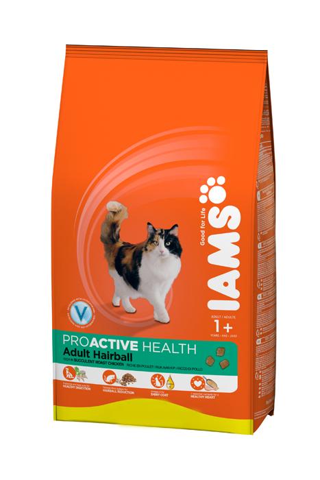 Корм сухой Iams Adult Hairball для взрослых пушистых и длинношерстных кошек, с курицей, 850 г81411198Сухой корм Iams Adult Hairball является полноценным сбалансированным питанием для взрослых пушистых и длинношерстных кошек, склонных к образованию волосяных комков в желудке, от 1 года и старше. Не содержит искусственных красителей, консервантов и вкусовых добавок. Iams дает вашей кошке все необходимые питательные вещества для поддержания все 7 признаков здорового животного: - Хорошее пищеварение: особая смесь клетчатки, включая пребиотики и пульпу сахарной свеклы, поддерживает способность всасывания необходимых питательных веществ в пищеварительной системе вашей кошки. - Сильная иммунная система: корм обогащен антиоксидантами, которые способствуют поддержанию сильной иммунной системы. - Сильная мускулатура: высококачественный белок помогает поддерживать мышцы вашей кошки в тонусе. - Здоровая кожа и красивая шерсть: оптимальное содержание Омега-6 и Омега-3 жирных кислот обеспечивает здоровье кожи и блеск шерсти. - Здоровое сердце: 7 важнейших...