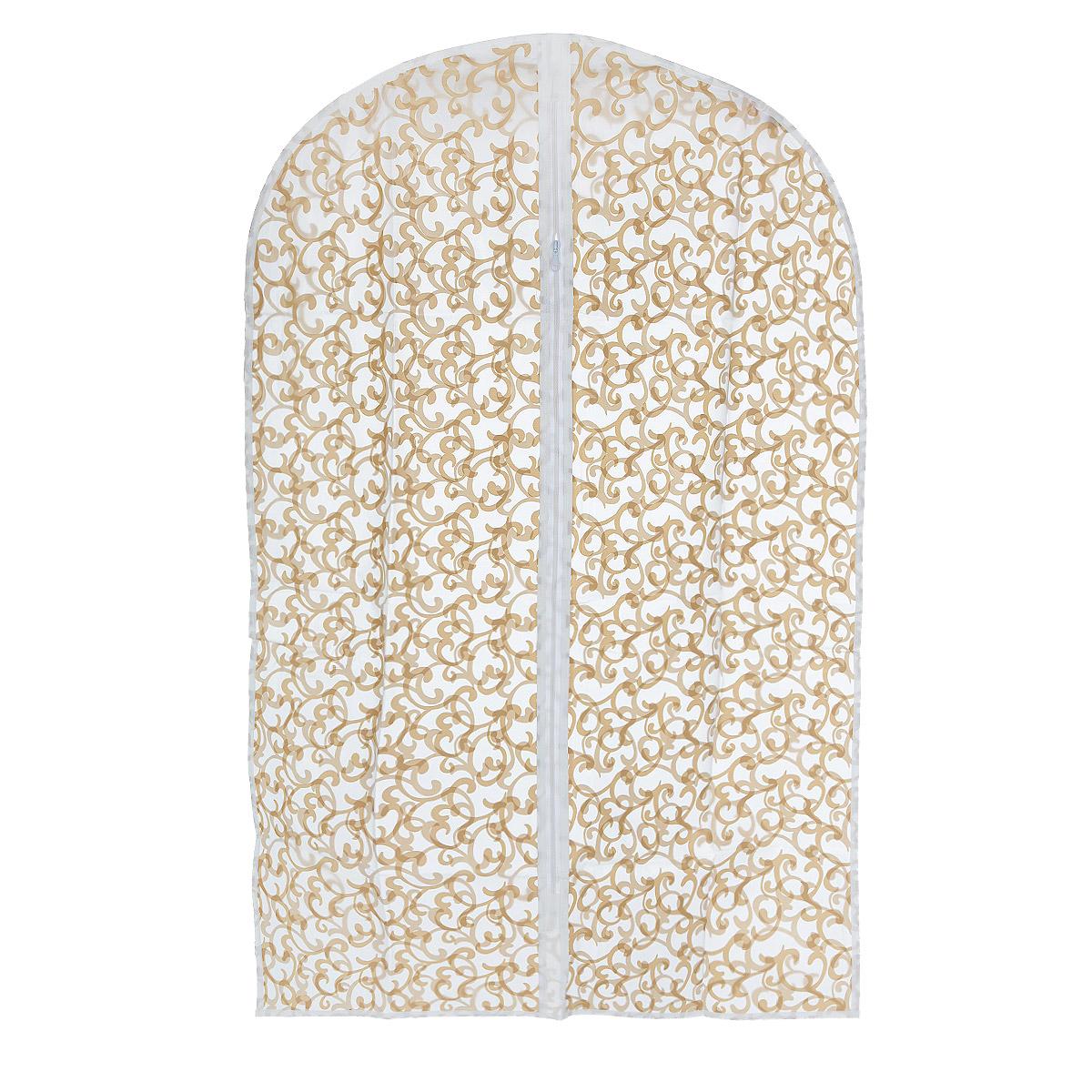 Чехол для одежды Eva Узоры, прозрачный, бежевый, 60 х 92 смЕ-16201 узорыЧехол для одежды Eva Узоры выполнен из материала PEVA. Чехол обеспечивает вашей одежде надежную защиту от влажности, повреждений и грязи при транспортировке, от запыления при хранении. Изделие обладает водоотталкивающими свойствами, а также позволяет воздуху свободно поступать внутрь вещей, обеспечивая их кондиционирование. Закрывается на молнию. Можно стирать при температуре до 40°C.