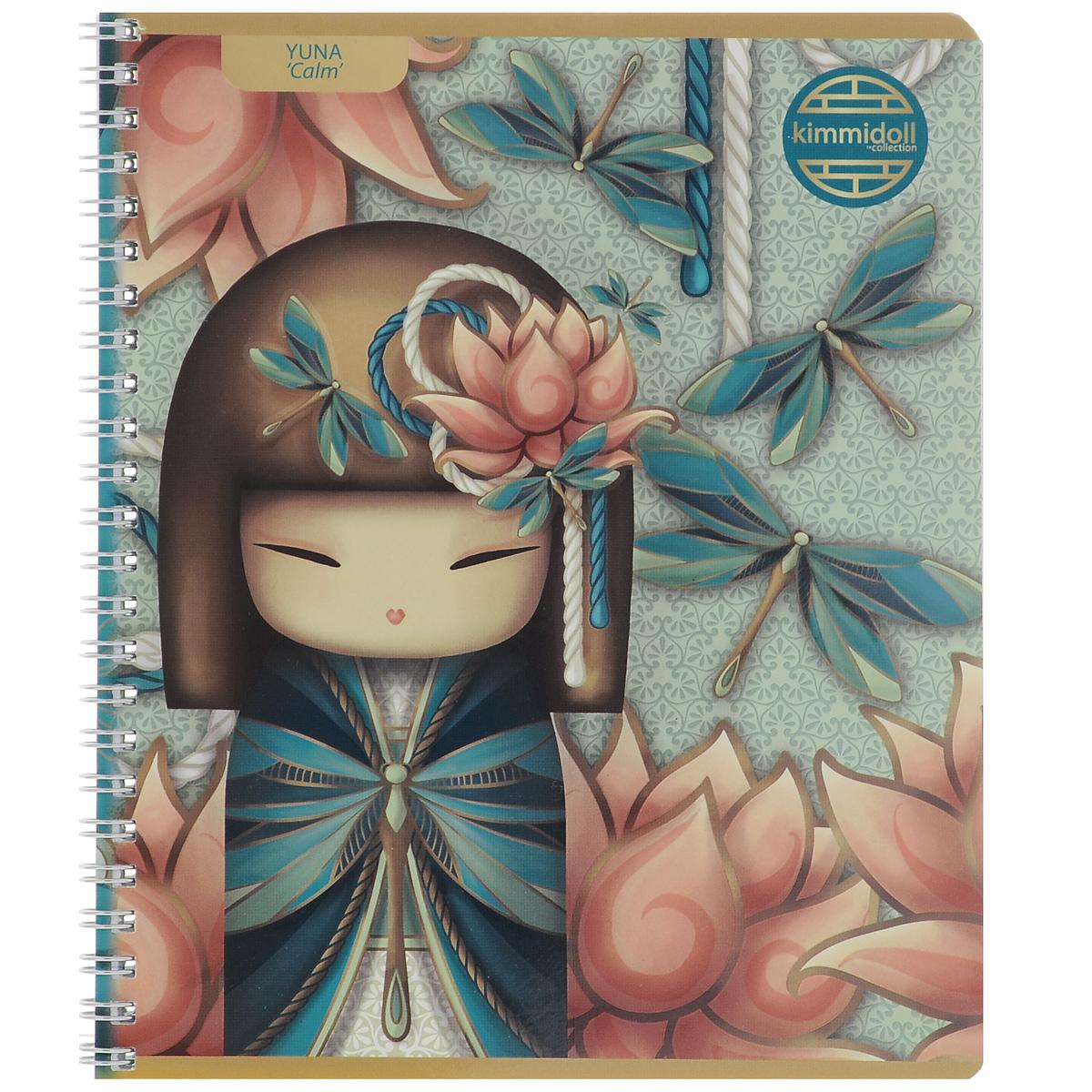 Тетрадь Yuna (Calm), цвет: бирюзовый, розовый, 80 листовKD5/3_Yuna CalmТетрадь Yuna (Calm) с красочным изображением на обложке подойдет для выполнения любых работ. Обложка тетради выполнена из мелованного картона с закругленными углами и дополнена изображением японской мини-куклы Юны. Внутренний блок тетради состоит из 80 листов высококачественной бумаги на гребне белого цвета. Все листы расчерчены в клетку без полей.