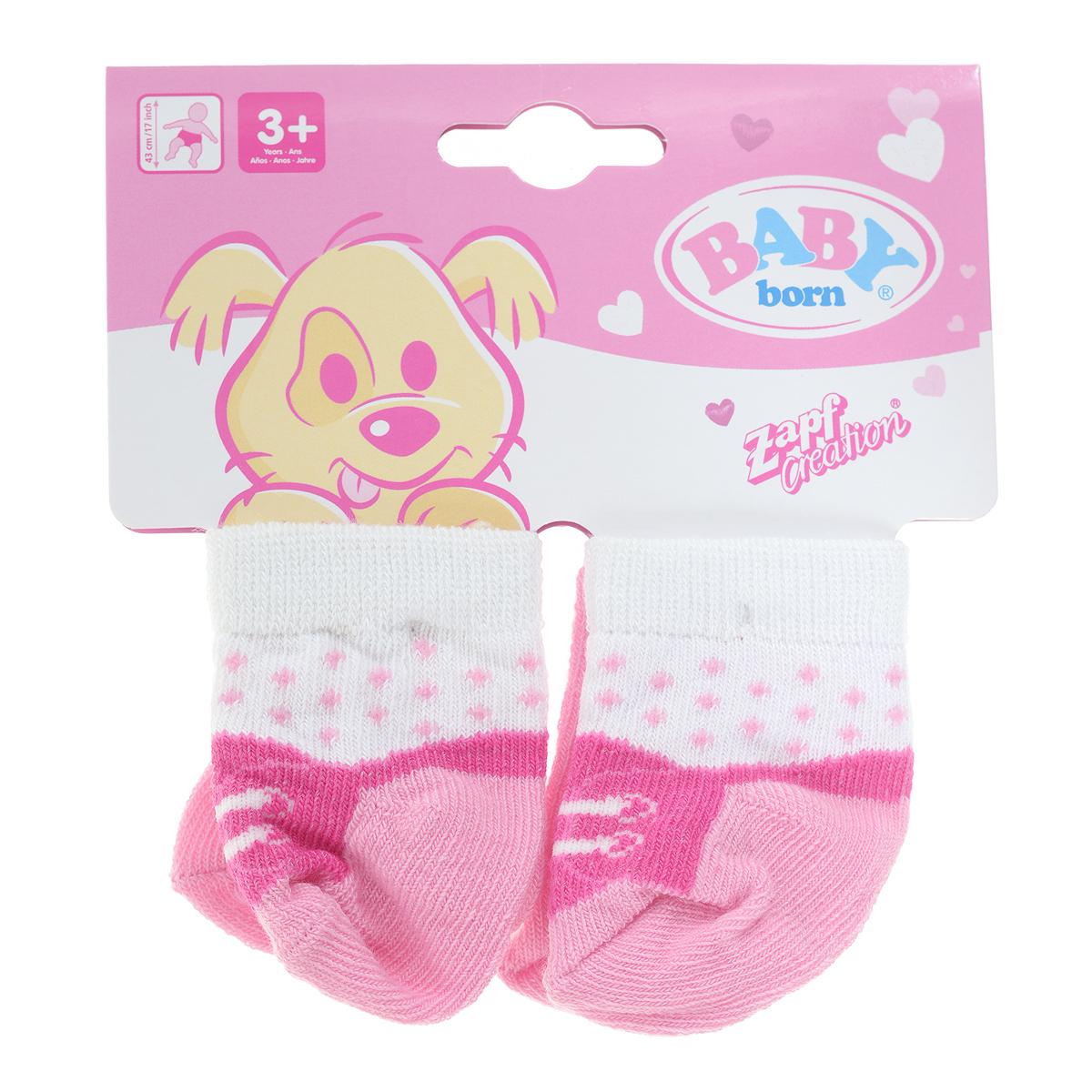 Baby Born Одежда для куклы Носки 2 пары цвет розовый