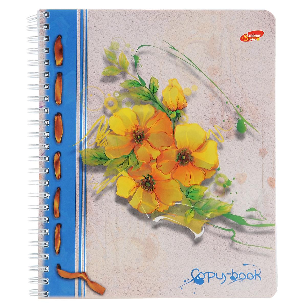 Тетрадь Желтые цветы, цвет: серый, желтый, 96 листов6008/3_кругл Желтые цветыТетрадь Желтые цветы с красочным изображением на обложке подойдет для выполнения любых работ. Обложка тетради с закругленными углами изготовлена из мелованного картона. Внутренний блок тетради на гребне состоит из 96 листов качественной белой бумаги. Все листы расчерчены в клетку без полей.