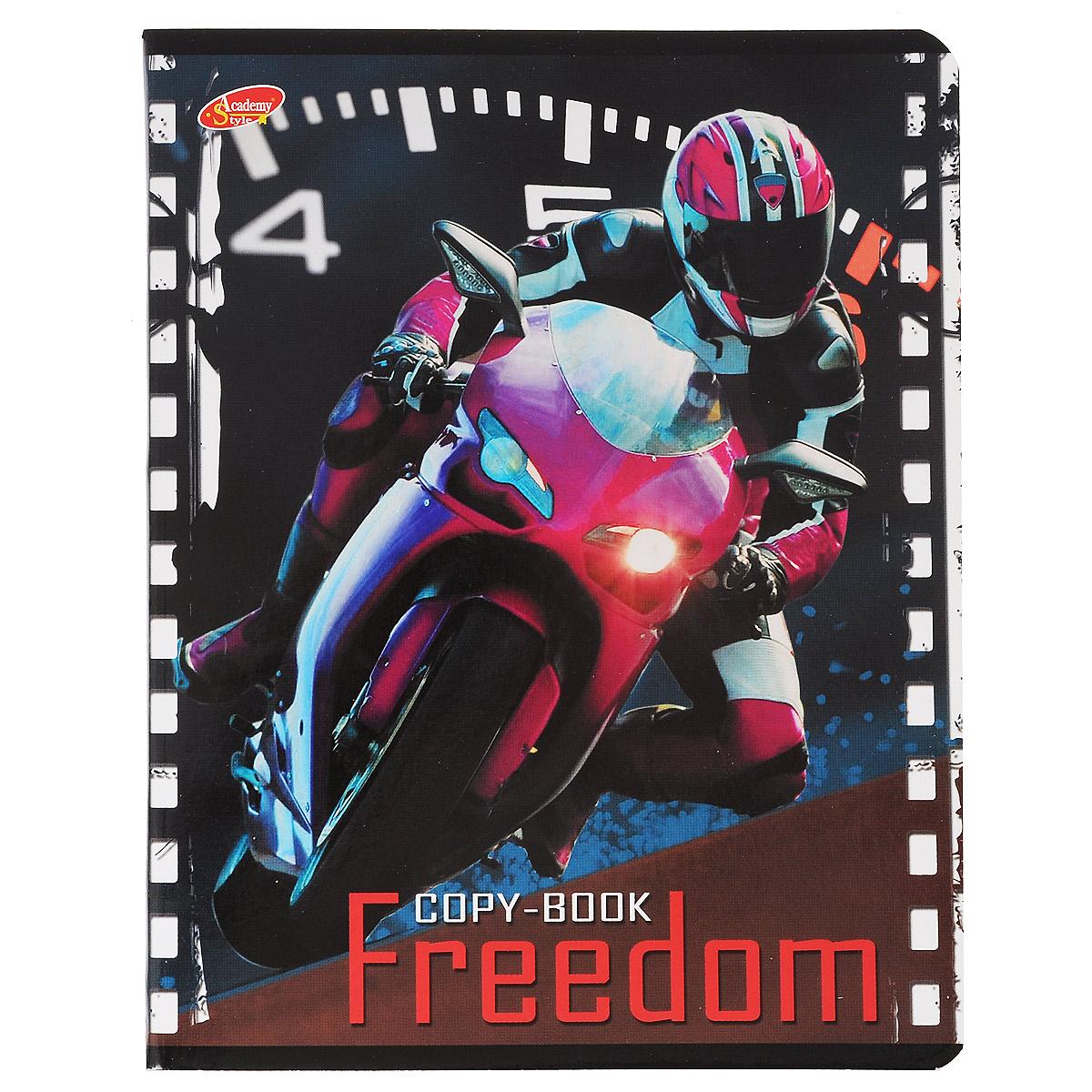 Тетрадь Freedom Мотоцикл, 80 листов, формат А5, цвет: розовый6595/5_РозовыйТетрадь в клетку Freedom Мотоцикл с красочным изображением мотоцикла на обложке подойдет как студенту, так и школьнику. Обложка тетради с закругленными углами выполнена из картона. Внутренний блок состоит из 80 листов белой бумаги. Стандартная линовка в клетку дополнена полями, совпадающими с лицевой и оборотной стороны листа.