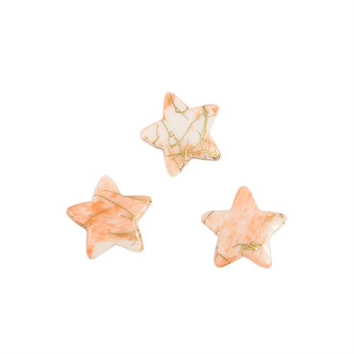 Бусины Астра Цветные камешки, цвет: персиковый (6-21), 15 мм х 15 мм х 4 мм, 48 шт7710780_6-21Набор бусин Астра Цветные камешки, изготовленный из пластика, позволит вам своими руками создать оригинальные ожерелья, бусы или браслеты. Бусины изготовлены в виде камешков-звездочек и имеют цветные разводы с оригинальным золотистым узором. Изготовление украшений - занимательное хобби и реализация творческих способностей рукодельницы, это возможность создания неповторимого индивидуального подарка. Размер бусины: 15 мм х 15 мм х 4 мм.