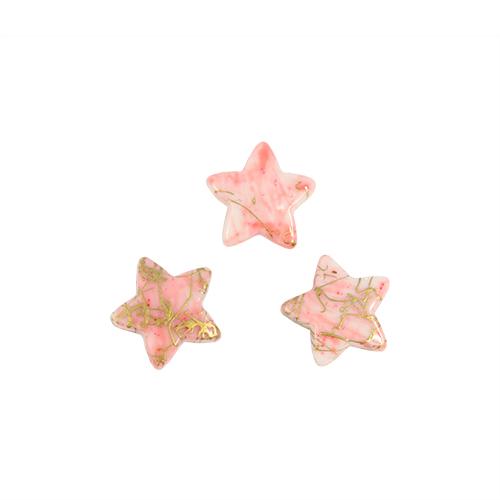 Бусины Астра Цветные камешки, цвет: розовый (6-35), 15 мм х 15 мм х 4 мм, 48 шт7710780_6-35Набор бусин Астра Цветные камешки, изготовленный из пластика, позволит вам своими руками создать оригинальные ожерелья, бусы или браслеты. Бусины изготовлены в виде камешков-звездочек и имеют цветные разводы с оригинальным золотистым узором. Изготовление украшений - занимательное хобби и реализация творческих способностей рукодельницы, это возможность создания неповторимого индивидуального подарка. Размер бусины: 15 мм х 15 мм х 4 мм.