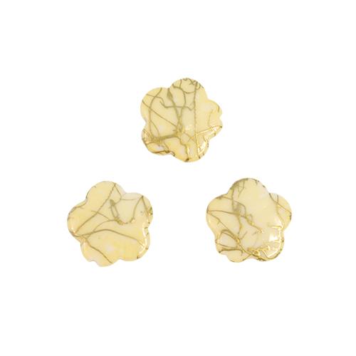 Бусины Астра Цветные камешки, цвет: шампань (6-31), диаметр 17 мм, 50 шт7710781_6-31Набор бусин Астра Цветные камешки, изготовленный из пластика, позволит вам своими руками создать оригинальные ожерелья, бусы или браслеты. Бусины выполнены в виде камешков-цветов и имеют цветные разводы с оригинальным золотистым узором. Изготовление украшений - занимательное хобби и реализация творческих способностей рукодельницы, это возможность создания неповторимого индивидуального подарка. Диаметр бусины: 17 мм.