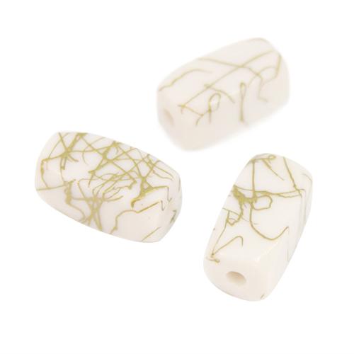 Бусины Астра Цветные камешки, цвет: белый (6-39), 15 мм х 7 мм, 38 шт7710783_6-39Набор бусин Астра Цветные камешки, изготовленный из пластика в виде камешков, позволит вам своими руками создать оригинальные ожерелья, бусы или браслеты. Бусины прямоугольной формы имеют цветные разводы с оригинальным золотистым узором. Изготовление украшений - занимательное хобби и реализация творческих способностей рукодельницы, это возможность создания неповторимого индивидуального подарка. Размер бусины: 15 мм х 7 мм х 7 мм.