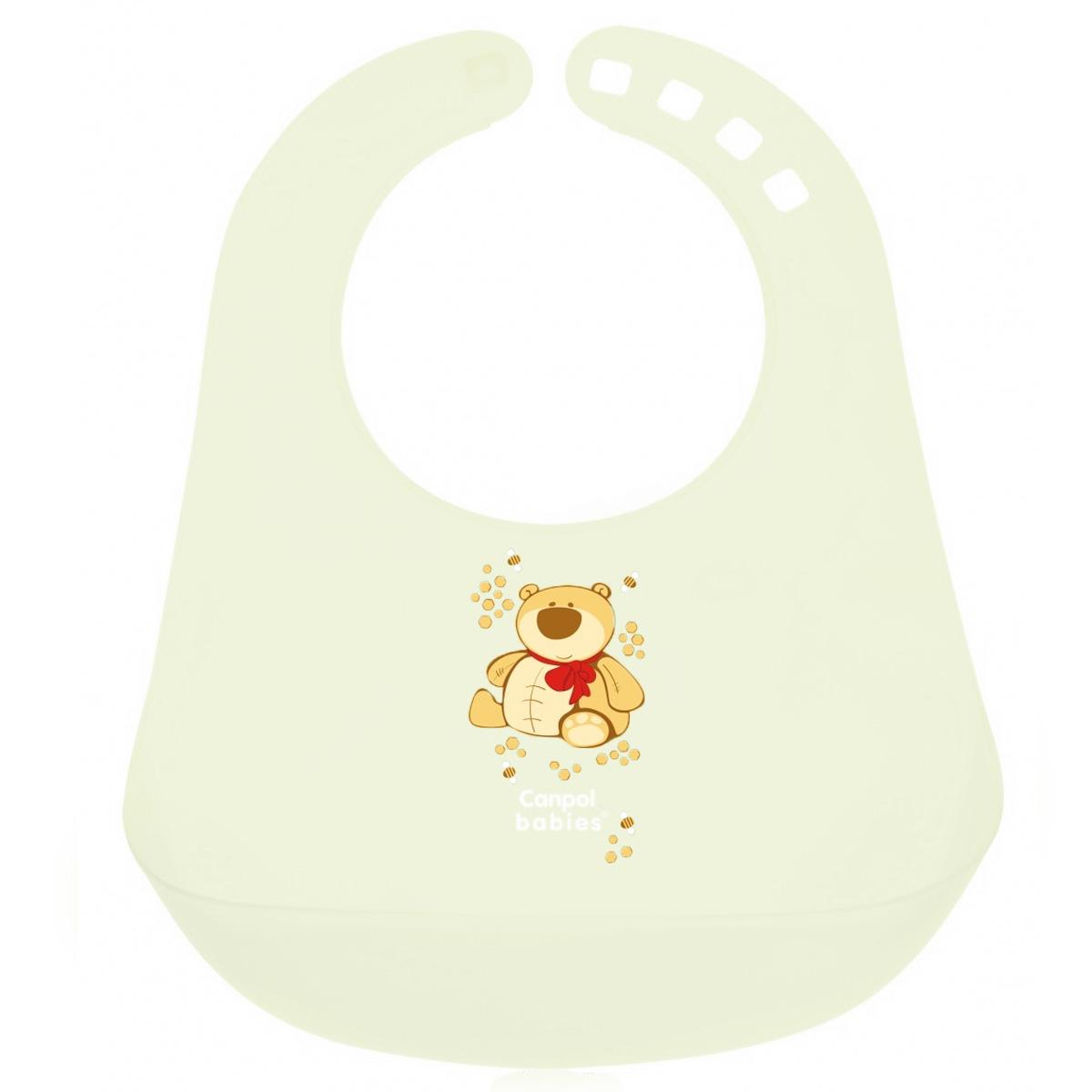 Canpol Babies Слюнявчик пластиковый цвет зеленый
