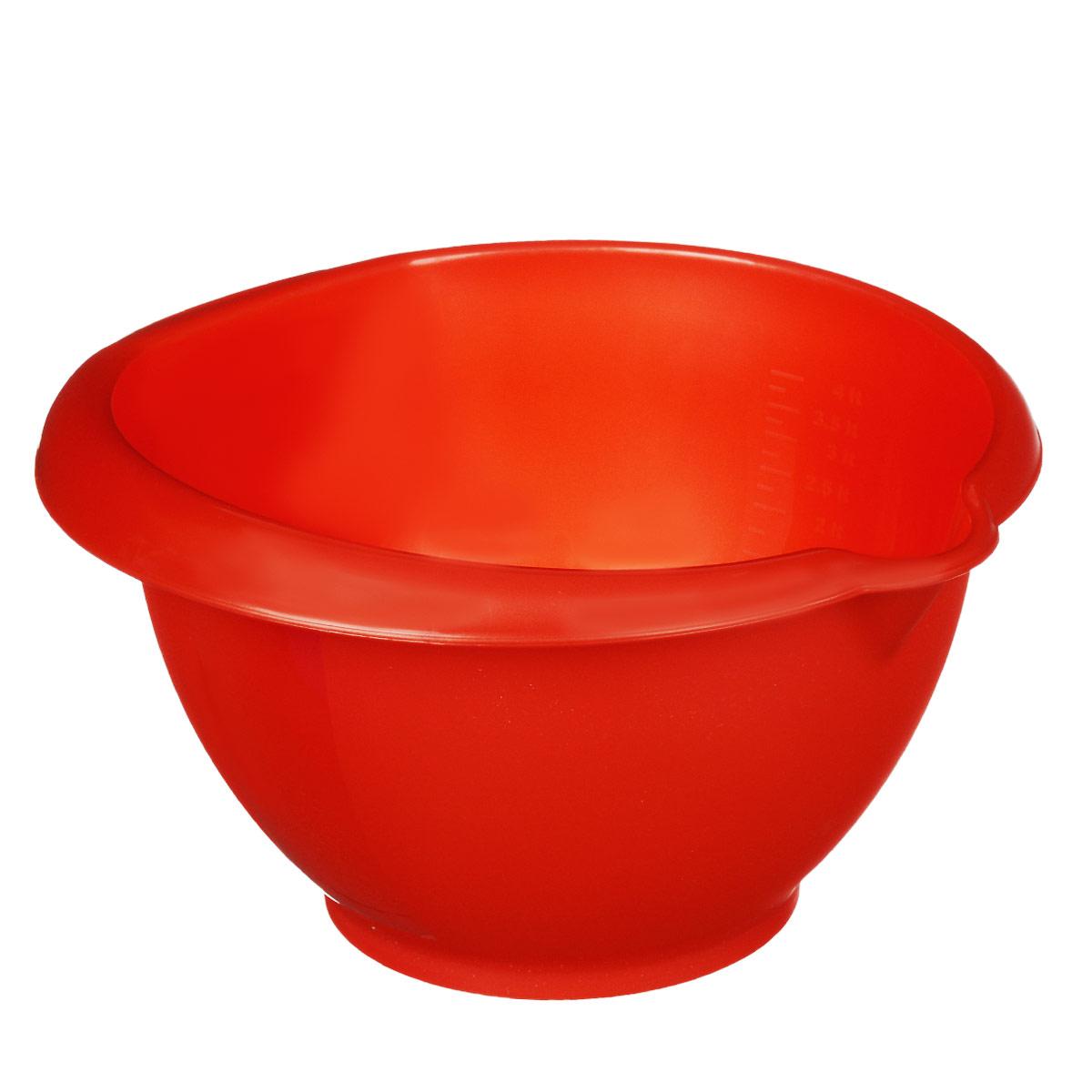 Миска для миксера Dunya Plastik, цвет: красный, 5 л10207 красныйМиска для миксера Dunya Plastik изготовлена из прочного пищевого пластика, имеет круглую форму. Благодаря высоким стенкам в такой миске очень удобно смешивать продукты миксером. Носик поможет аккуратно вылить жидкость. Внутренняя поверхность снабжена отметками литража. Такая миска пригодится в любом хозяйстве, ее также можно использовать для хранения и сервировки различных пищевых продуктов. Объем: 5 л.