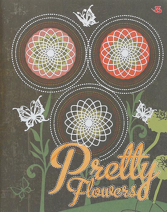 Тетрадь Pretty Flowers, 60 листов, формат А5, цвет: зеленый6653/5_ЗеленыйТетрадь в клетку Pretty Flowers с красочным изображением на обложке подойдет как студенту, так и школьнику. Обложка тетради с закругленными углами выполнена из картона и дополнена тиснением фольгой серебряного цвета. Внутренний блок состоит из 60 листов белой бумаги. Стандартная линовка в клетку дополнена полями, совпадающими с лицевой и оборотной стороны листа.