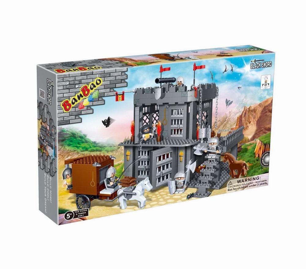 Конструктор Замок, 705 деталей, 53х35х7см
