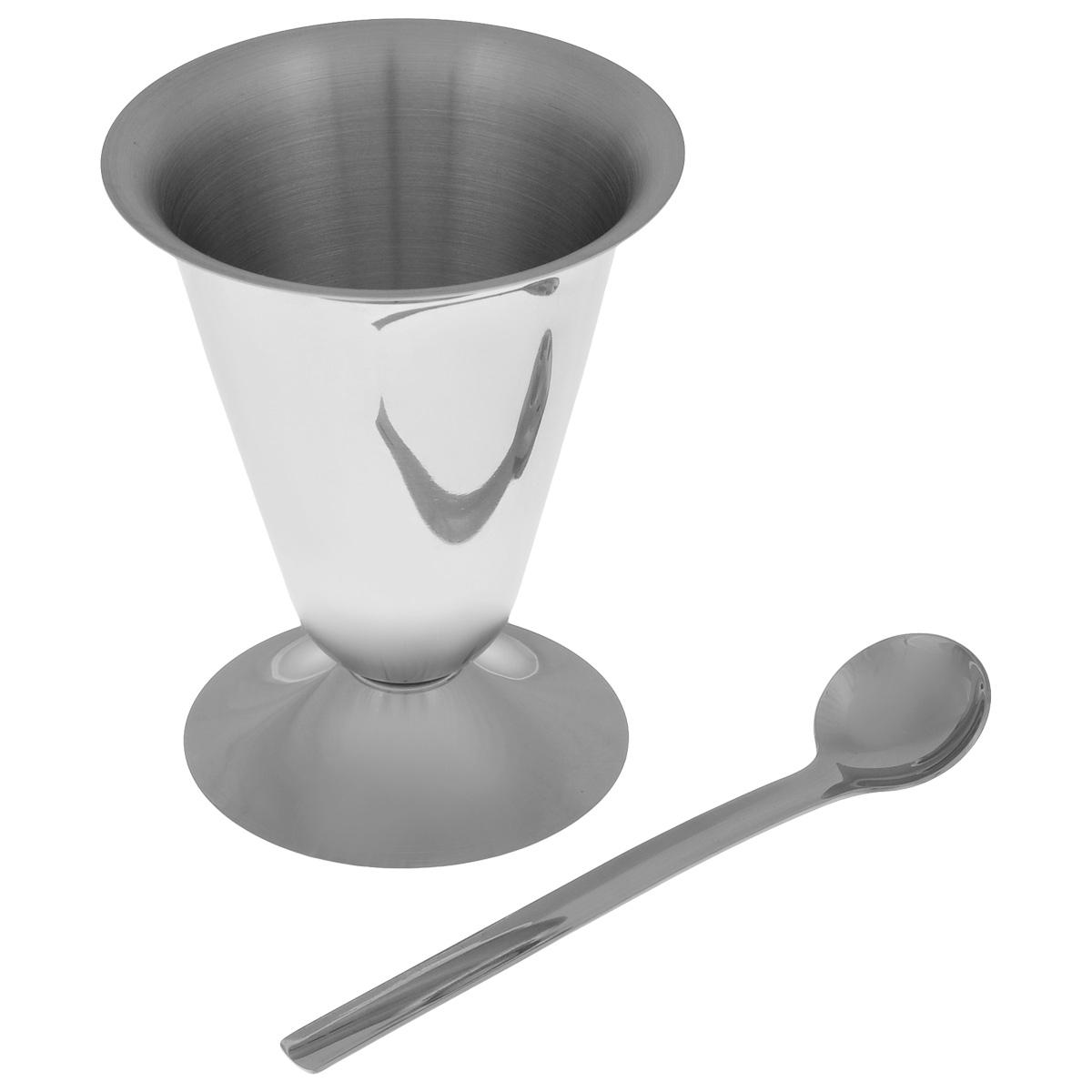 Креманка для мороженого Mayer & Boch, с ложкой, 250 мл2828Креманка для мороженого Mayer & Boch изготовлена из высококачественной нержавеющей стали 18/10. Внешние стенки имеют зеркальную полировку. Изделие прекрасно подходит для подачи мороженого и десертов. В комплекте предусмотрена ложечка. Диаметр креманки (по верхнему краю): 9,5 см. Высота креманки: 12 см. Длина ложечки: 14,8 см.
