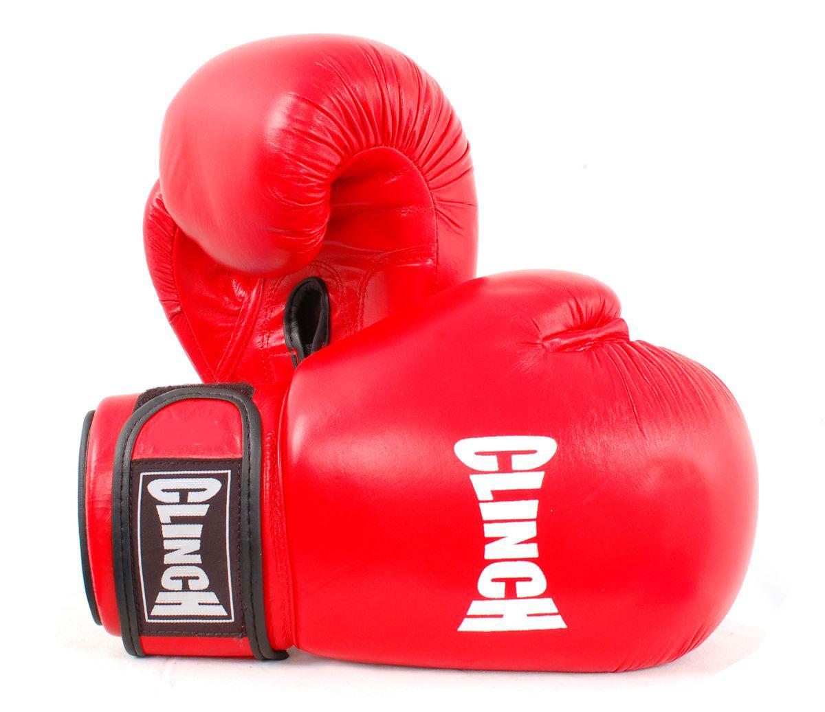 Перчатки боксерские Clinch, цвет: красный, 12 унций. C228C228Боксерские перчатки Clinch идеально подойдут для соревнований, боев и спаррингов. Перчатки выполнены из высококачественной натуральной кожи с инжекционным литым вкладышем, смягчающим силу удара и дополнительно защищающим руку. На тыльной стороне перчаток предусмотрены отверстия для вентиляции. Большой палец соединен с перчаткой небольшой плотной перемычкой. Перчатки прочно фиксируются на запястье широкой манжетой на липучке, что гарантирует быстроту и удобство одевания.