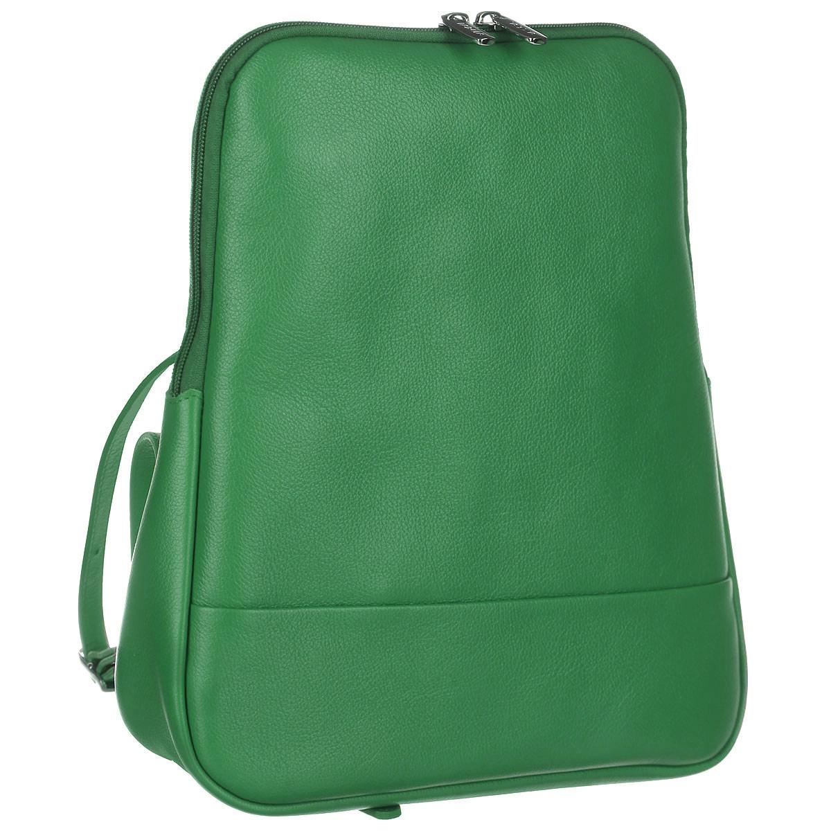 Рюкзак женский Fabula, цвет: зеленый. S.141.FPS.141.FP. зеленыйСтильный женский рюкзак Fabula из коллекции Every day выполнен из натуральной кожи и оформлен фактурным тиснением. Закрывается на молнию. Изделие содержит одно основное отделение, закрывающееся на застежку-молнию. Внутри - врезной карман на молнии, два накладных кармашка для мобильного телефона и мелочей. На внешней оборотной стороне два регулируемых за счет пряжек плечевых ремня. Рюкзак упакован в фирменный пакет. Оригинальный рюкзак станет незаменимым спутником в маленьком путешествии, поможет вам подчеркнуть свою индивидуальность и сделает ваш образ изысканным и завершенным.