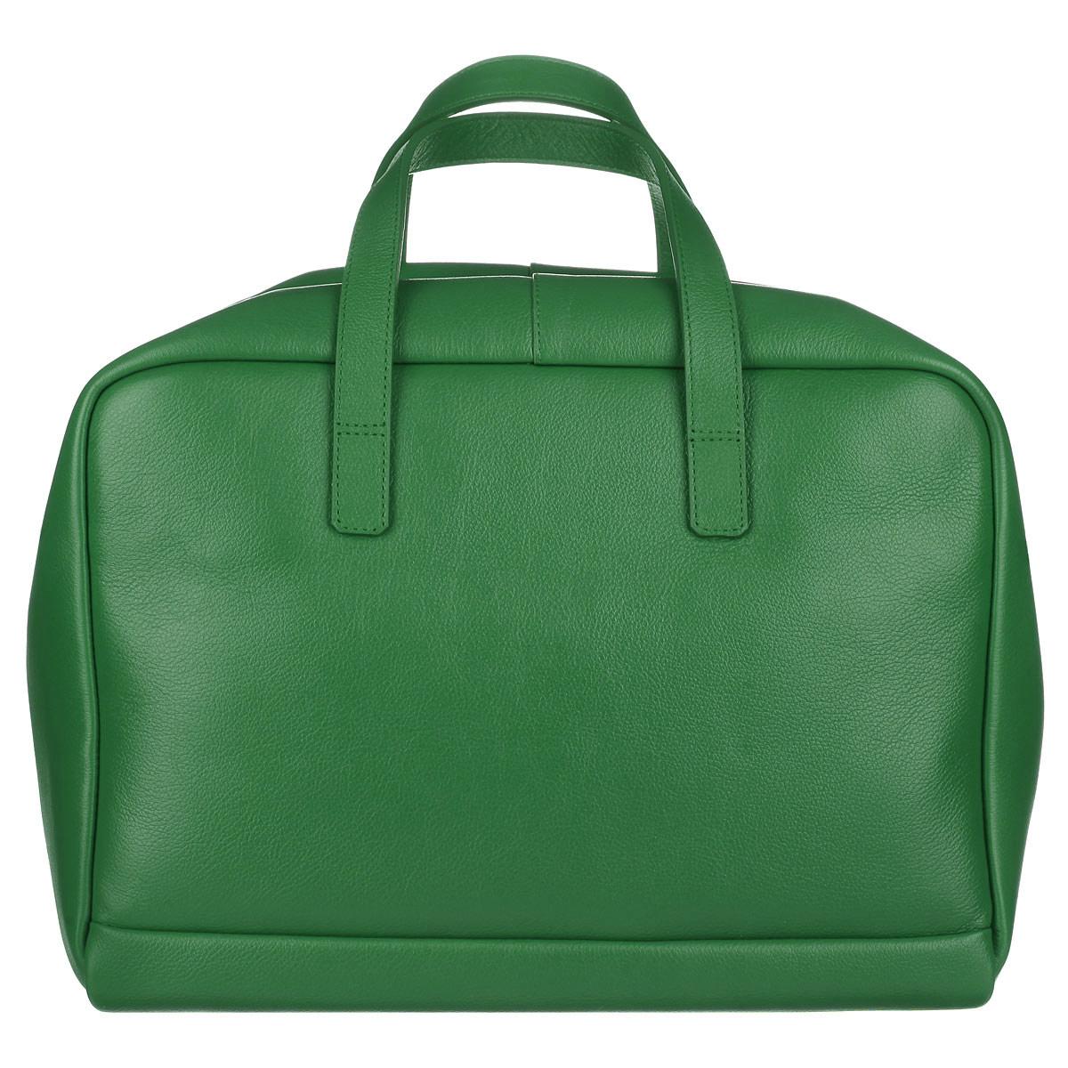 Сумка женская Fabula, цвет: зеленый. S.143.FPS.143.FP. зеленыйСовременная вместительная женская сумка Fabula из коллекции Every day выполнена из натуральной кожи. Эта модель понравится практичным модницам. Здесь стиль и функциональность превосходно сочетаются и гармонично завершают практически любой образ. Закрывается сумка на застежку-молнию. Внутри основное отделение содержит четыре боковых нашивных кармана для телефона, документов и различных мелочей. Сумка оснащена ручками для ношения в руке или сгибе локтя. В комплекте ручка-ремень. Такая стильная и в то же время, элегантная сумка - станет идеальным дополнением к вашему образу! Ширина сумки - 30 см, высота - 22 см, ширина боковой стенки - 18,5 см.