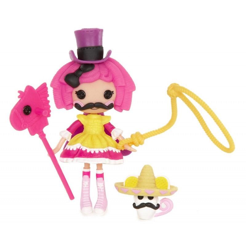 Lalaloopsy Мини-кукла Crumbs527084_CrumbsКукла Mini Lalaloopsy Crumbs займет внимание вашей малышки и подарит ей множество счастливых мгновений. Кукла изготовлена из пластика, ее голова, ручки и ножки подвижны. Куколка одета в пышное несъемное платье, на голове у нее - шляпка-цилиндр. В комплект входят 3 дополнительных аксессуара для куклы и милый питомец-мышка. Благодаря играм с куклой, ваша малышка сможет развить фантазию и любознательность, овладеть навыками общения и научиться ответственности, а дополнительные аксессуары сделают игру еще увлекательнее. Порадуйте свою принцессу таким прекрасным подарком!