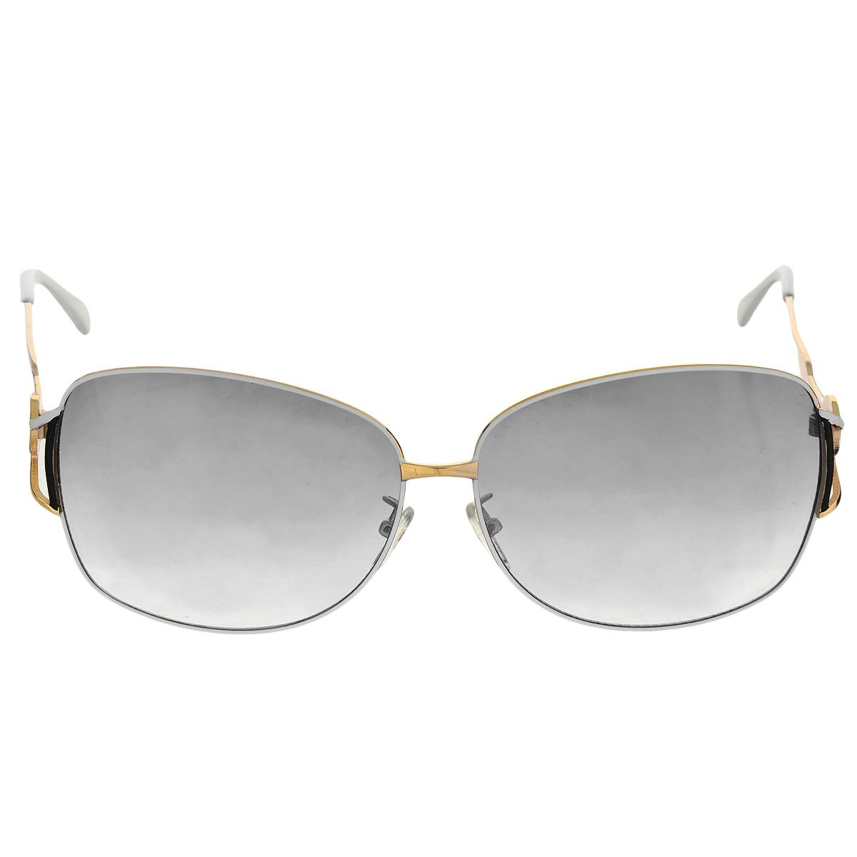 Солнцезащитные очки женские Selena, цвет: золотой, белый, черный. 8002484180024841Солнцезащитные очки Selena, выполненные с линзами из высококачественного пластика PC с зеркальным эффектом fresh mirror, оправа оформлена декоративным узором. Используемый пластик не искажает изображение, не подвержен нагреванию и вредному воздействию солнечных лучей. Линзы данных очков с высокоэффективным UV-фильтром обеспечивают полную защиту от ультрафиолетовых лучей. Металлическая оправа очков легкая, прилегающей формы и поэтому не создает никакого дискомфорта. Такие очки защитят глаза от ультрафиолетовых лучей, подчеркнут вашу индивидуальность и сделают ваш образ завершенным.
