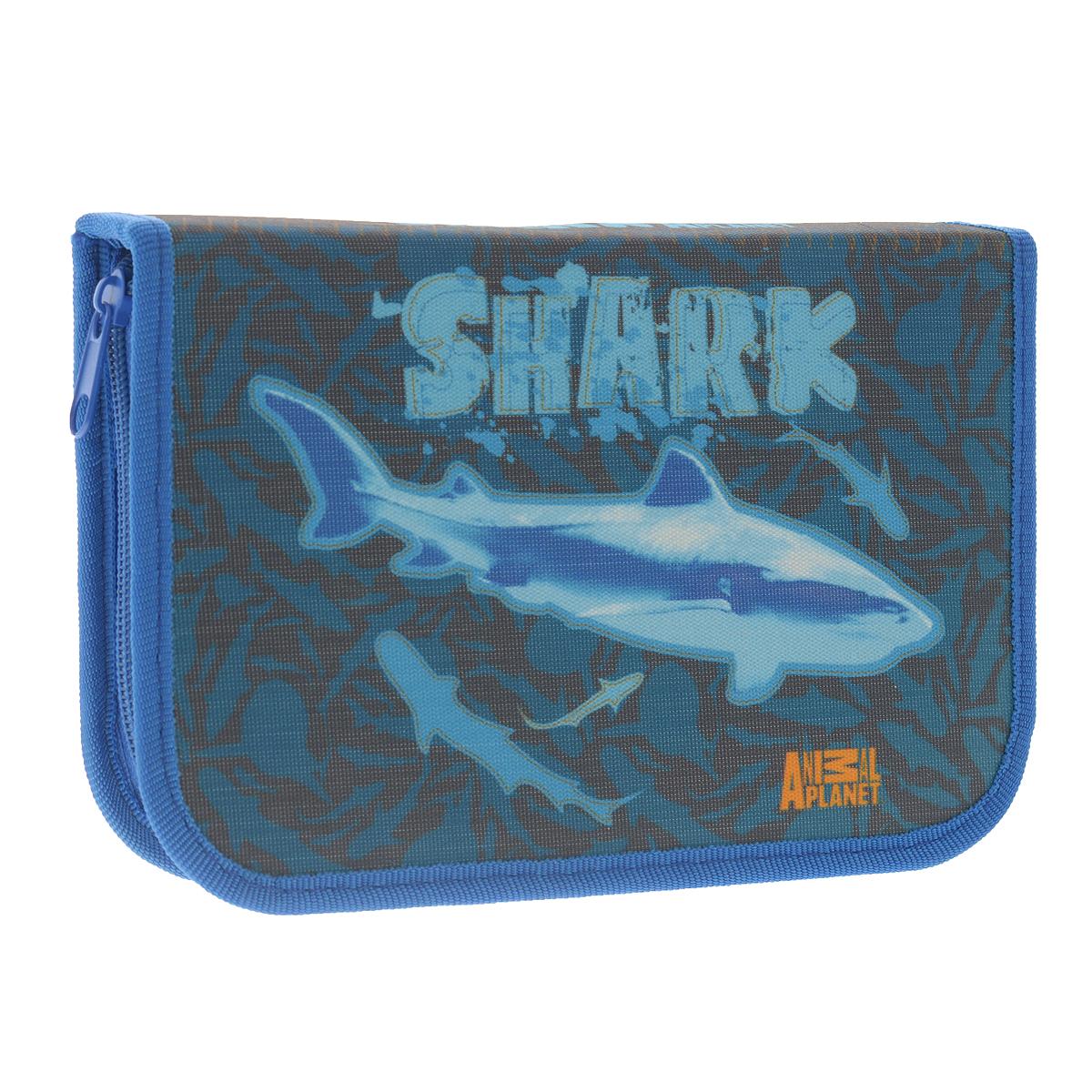 Пенал Action! Animal Planet: Shark, цвет: синийAP-APC4201/5Пенал Action! Animal Planet: Shark состоит из одного вместительного отделения, закрывающегося на застежку-молнию. Пенал предназначен специально для школьников, в нем можно хранить все письменные принадлежности.