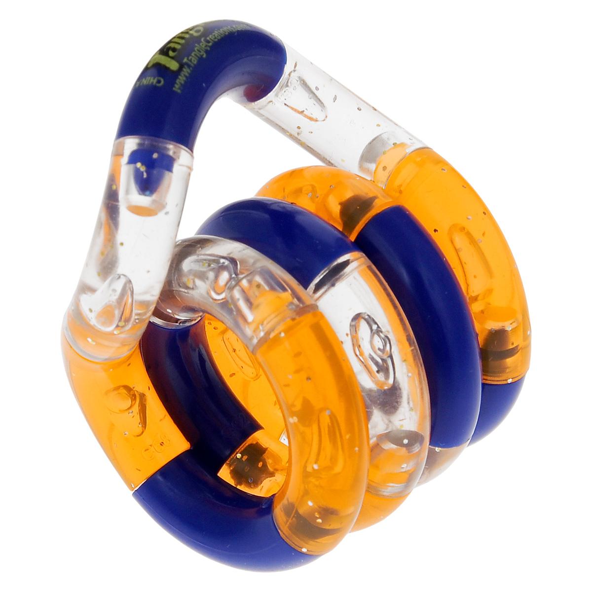 Змейка Tangle. Классик, цвет: прозрачный, оранжевый, синий7300_оранжевый, синийЗмейка Tangle. Классик - это увлекательная головоломка для вас и вашего малыша. Змейка выполнена из прочного пластика ярких цветов. Благодаря своей особой форме и специальным креплениям, она скручивается в любую форму. Такая игра надолго займет ребенка, и поможет ему раскрыть свой потенциал, научит его логическому мышлению и поспособствует развитию мелкой моторики.