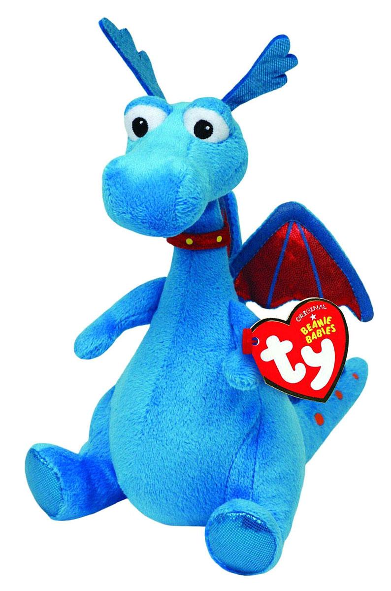 TY Мягкая игрушка Дракон Стаффи 17 см42086Мягкая игрушка Дракон Стаффи обязательно вызовет положительные эмоции и улыбку у каждого. Игрушка изготовлена из безопасных, приятных на ощупь материалов в виде дракончика голубого цвета. Если нажать игрушке на животик, по дракончик весело засмеется. Гранулы из пластика, используемые при набивке игрушки, способствуют развитию мелкой моторики рук ребенка. Симпатичная игрушка будет радовать вашего ребенка, а также способствовать полноценному и гармоничному развитию его личности. Великолепное качество исполнения делают эту игрушку чудесным подарком к любому празднику, как для ребенка, так и взрослого человека!