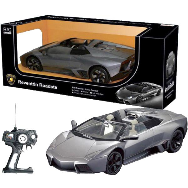Rastar Радиоуправляемая модель Lamborghini Roadster42300Машинка на радиоуправлении Lamborghini Roadster сделана в масштабе 1:14 от реального размера ее прототипа. Машинка выполнена в точности, как настоящая. Машинка едет вперед/назад, поворачивает вправо/влево. Машинкой легко управлять при помощи пульта дистанционного управления, работающего на расстоянии 15-45 метров. Машинка радиоуправляемая может развивать скорость до 12 км/ч. У машинки есть световой эффект: светят фары. Цвета в ассортименте, уточняйте у менеджера. Машинка работает от 5 батареек АА, пульт – от 1 батарейки Крона (в наборе нет). Размер: 44x18.5x17см. Для детей от 3-х лет.