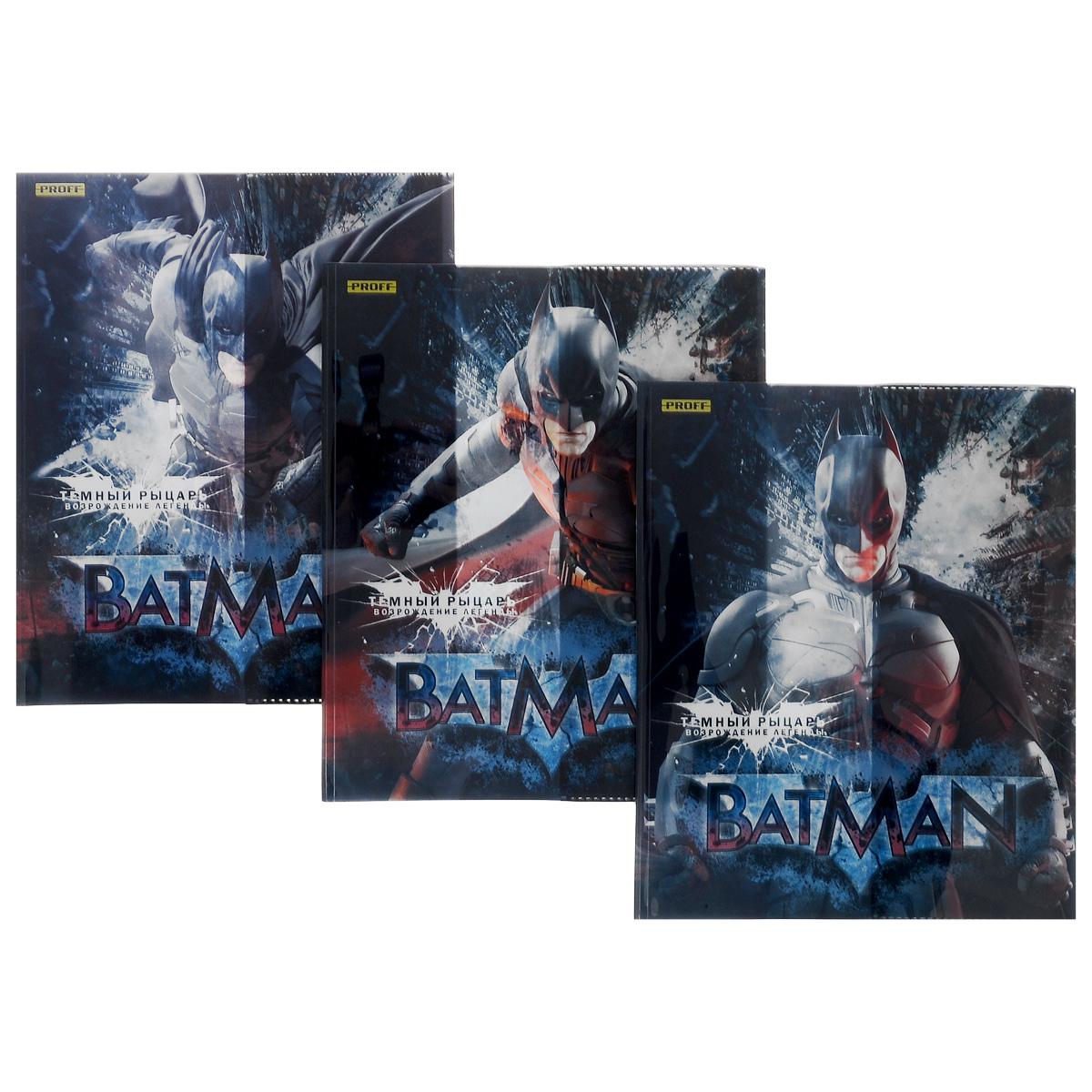 Набор обложек для тетрадей и дневников Proff Batman, 35,5 см х 21,3 см, 3 штBSL_ROZ_BatmanПрочная обложка Proff Batman , изготовленная из ПВХ, защитит поверхность тетради или дневника от изнашивания и загрязнений. Изделие оформлено ярким изображением любимого супергероя.