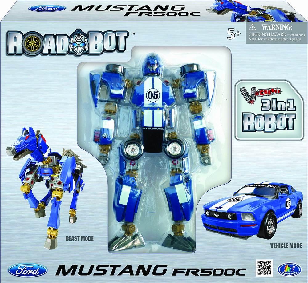 Робот-трансформер Ford Mustang FR500C, 3шт в упаковке, 1:24