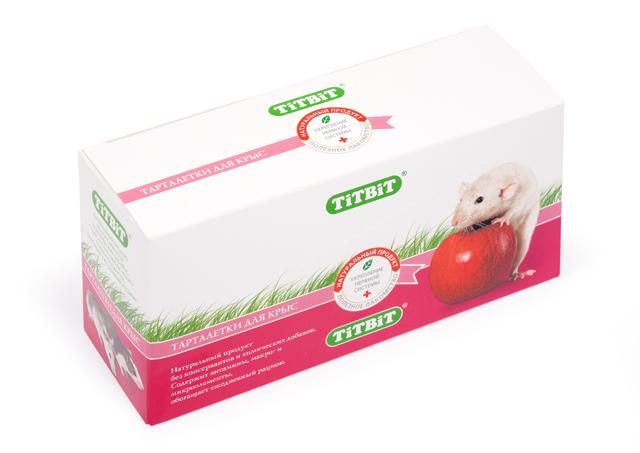 Лакомство для крыс Titbit, тарталетки с манго и клюквой, 8 шт7683Тарталетки представляют собой корзиночки из хрустящего пресного теста с лакомой и полезной для грызунов начинкой. Обогащают ежедневный рацион витаминами, макро – и микроэлементами. Продукт не содержит искусственных красителей и ароматизаторов. Как и во всех желто-оранжевых плодах, в манго, входящем в состав продукта, много каротиноидов. Кроме того мякоть манго богата витаминами груполипропиленовый пакеты В, органическими кислотами, пищевыми волокнами, железом и калием. Манго прекрасно усваивается организмом грызуна, стимулирует пищеварение, выводит шлаки. Клюква богата минеральными солями – калием, кальцием, магнием, фосфором, железом, а ее пектиновые вещества способствуют выведению из организма холестерина. Вкус: манко;клюква Состав: Манго, клюква, морковь, просо, лёгкое говяжье, семена подсолнечника. Полезные вещества: сбалансированный витаминноминеральный комплекс. Условия хранения: Хранить в сухом и прохладном месте