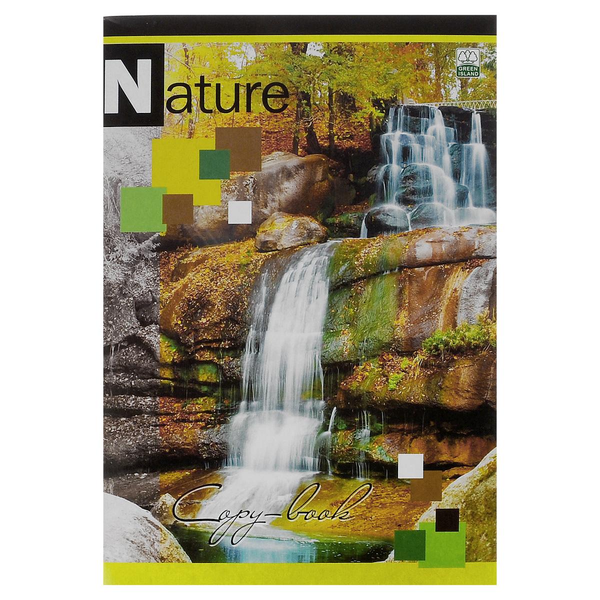 Тетрадь в клетку Nature Водопад, 96 листов, формат А46640/3_ВодопадУниверсальная тетрадь Nature Водопад подойдет как для учебы, так и для работы. Обложка тетради выполнена из мелованного картона с красочным изображением водопада. Внутренний блок состоит из 96 листов белой офсетной бумаги со стандартной линовкой в клетку без полей. Способ крепления - скобы.